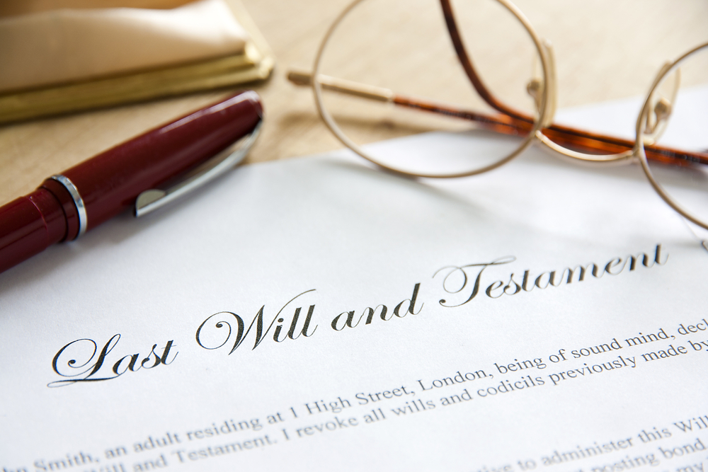 photo of a will